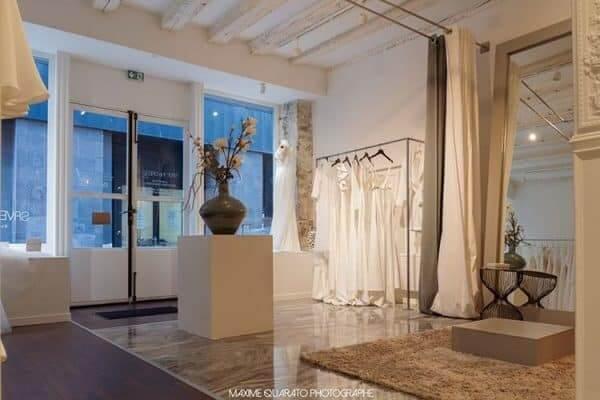intérieur de la boutique save the dress